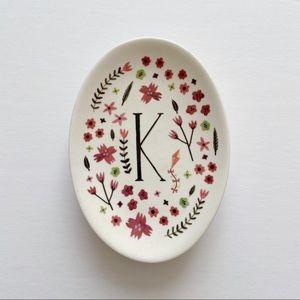"Amelia Herbertson • ""K"" Monogram Trinket Dish"